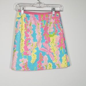 lilly pulitzer (girl) dragonfly &floral wrap skirt